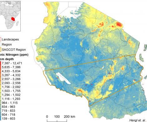 Tanzania - extractable Nitrogen