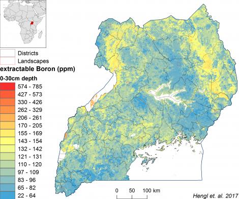 Uganda - extractable Boron