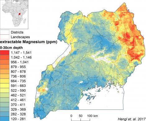 Uganda - extractable Magnesium