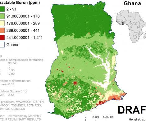 Ghana - extractable Boron