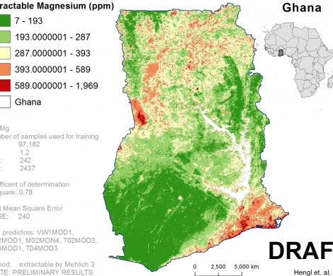 Ghana - extractable Magnesium