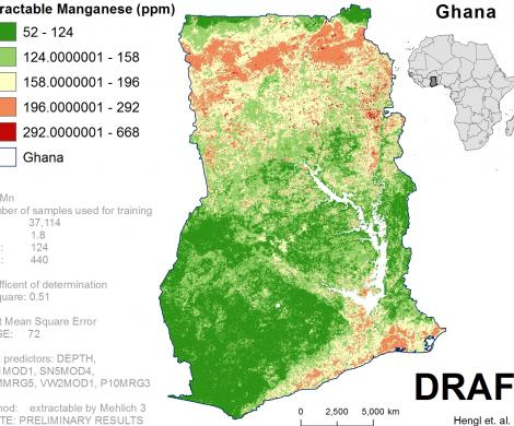 Ghana - extractable Manganese