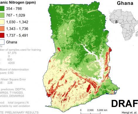 Ghana - extractable Nitrogen