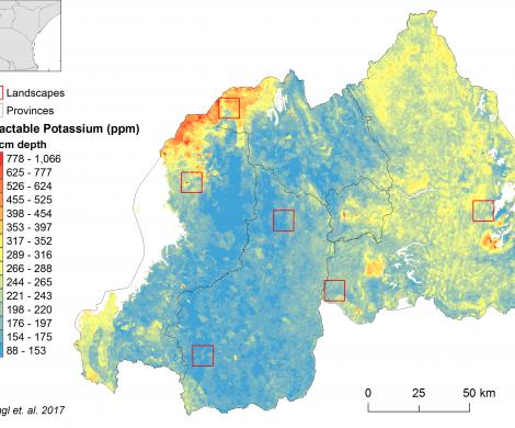 Rwanda - extractable Potassium