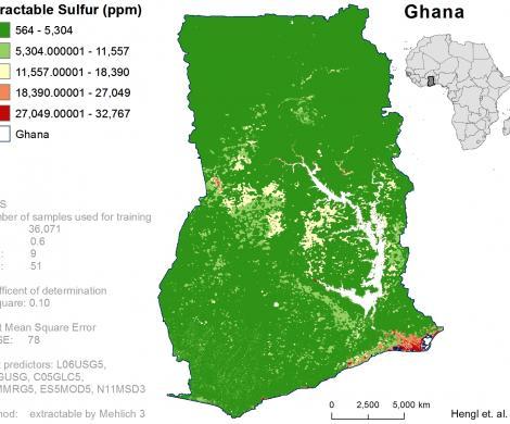 Ghana - extractable Sulphur